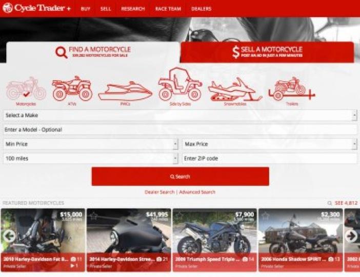 Cycletrader.com CycleTrader com website