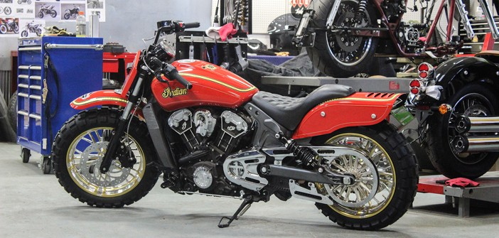 Klock Werks Builds 'Tennessee Fire' Indian Scout for Jack Daniel's General Store