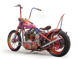fairless custom motorcycles are riots of color and curve.
