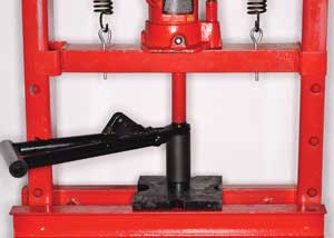 3. use a press to replace a-arm or knuckle ball joints.