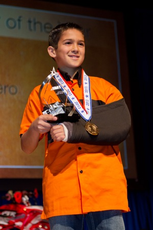 aiden tijero won the 2013 ama youth rider of the year award.