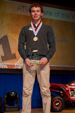 brett musick won the 2013 ama atv athlete of the year award.