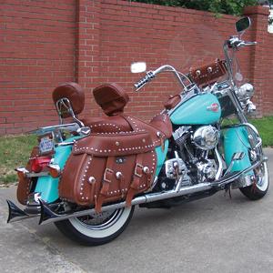 Custom Brown Leather Motorcycle Saddlebags Best Model Bag 2016